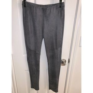 Charcoal Stretch Moto Style Pant